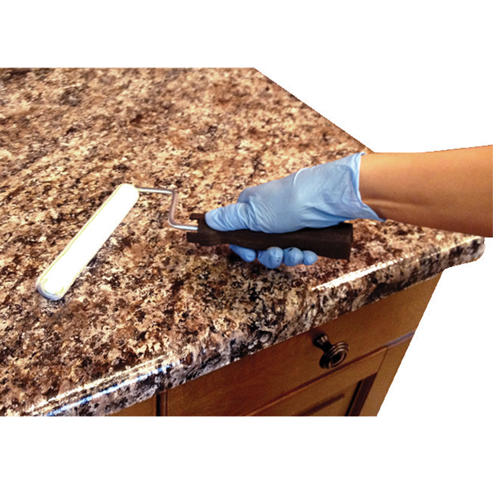 Uncategorized Painting Kitchen Countertops To Look Like Granite diy granite countertops for your home or rv kitchen camping world the whole process is done in these three easy steps